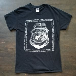 This Anti-Flag T shirt is Pre-Owned, so it does ha
